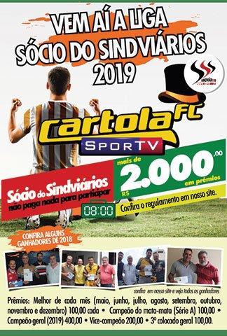 PROMOÇÃO CARTOLA SÓCIO DO SINDVIÁRIOS 2019